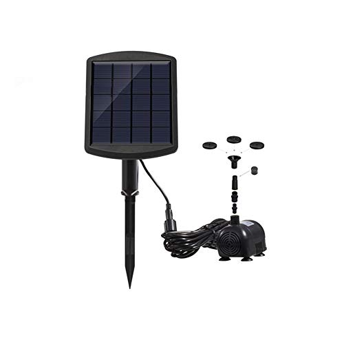 LNNUKc Solar Fountain Pump 1.8W 170L Solar Pond Pump Solar Panel Water Feature Pump For Garden Pool Pond Aquarium Fountain for Small Pond Swimming Pool Garden