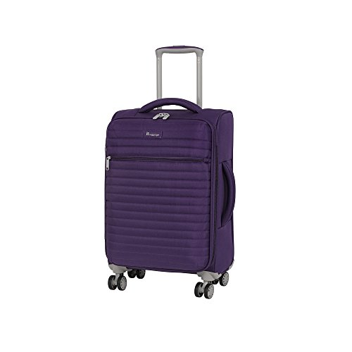 it luggage Quilte Lightweight Expandable Spinner, Purple, Carry-On 22-Inch