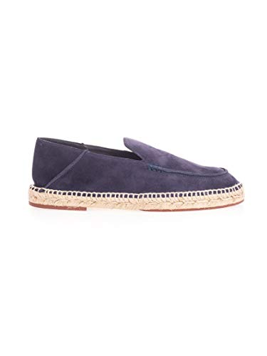 Luxury Fashion | Loro Piana Heren FAG1670WE82 Donkerblauw Leer Espadrilles | Lente-zomer 20