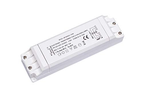 Yafido Elektronischer Transformator 230V (AC) auf 12V (AC) 50-150W, Halogen-Trafo Überlastungsschutz, nicht dimmbar, für Halogen