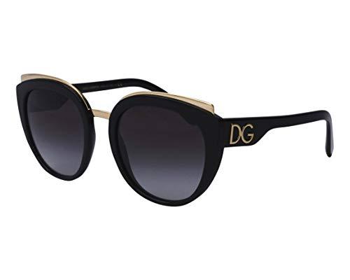 Dolce & Gabbana Gafas de Sol PRINT FAMILY DG 4383 Black/Grey Shaded 54/21/145 mujer