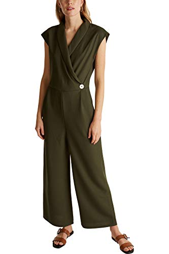 ESPRIT Collection Damen 030EO1L301 Overall, 350/KHAKI Green, M