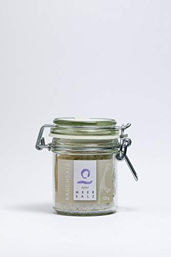 Sylter Rauchsalz- Meersalz fein - leicht geräuchert - 125 g im Bügelglas