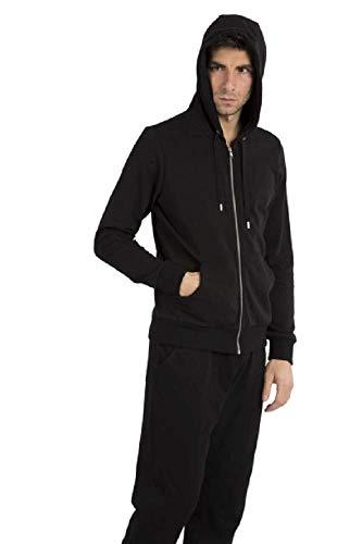 Everlast Chaqueta con cremallera larga con capucha con gráficos en la parte trasera. Negro XL