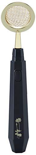 旭電機化成 電動式香炉の灰ふるい AFL-100 ブラック 約幅4.6×奥行2.9×高さ20.7cm