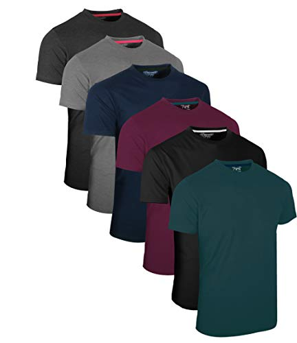 FULL TIME SPORTS® Tech 3 4 6 Pack Assorted Langarm-, Kurzarm Casual Top Multi Pack Rundhals T-Shirts (X-Large, 6 Pack - Dark Assorted)