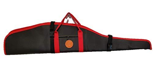 CAZA Y AVENTURA Funda Doble para Rifles con Visor en Cordura Rojo y Negro 120 cm