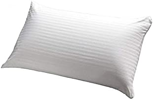 IBed home Soft Stripe Microfiber Pillow 1.2 kg Microfibre, Queen, White, W 22.3 x H 15.8 x L 5.2 cm