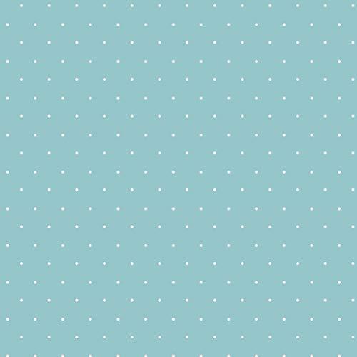Schickliesel Jersey Stoff Meterware Pünktchen (lichtblau)