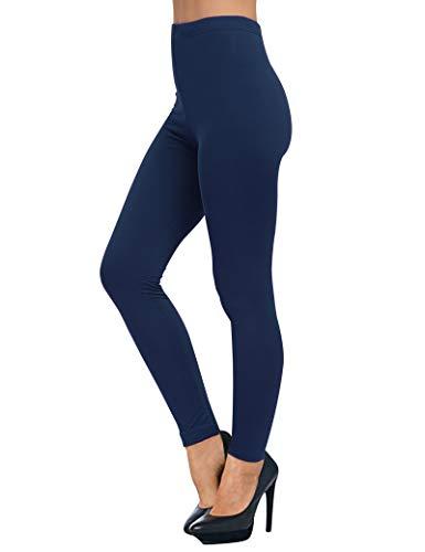 AUSELILY Damen Leggings mit hoher Taille, bequeme, schmale Hosen, Stretch-Leggings(Navy Blau,5XL)