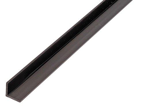 GAH-Alberts 479015 Winkelprofil-Kunststoff, schwarz, 1000 x 15 x 15 mm