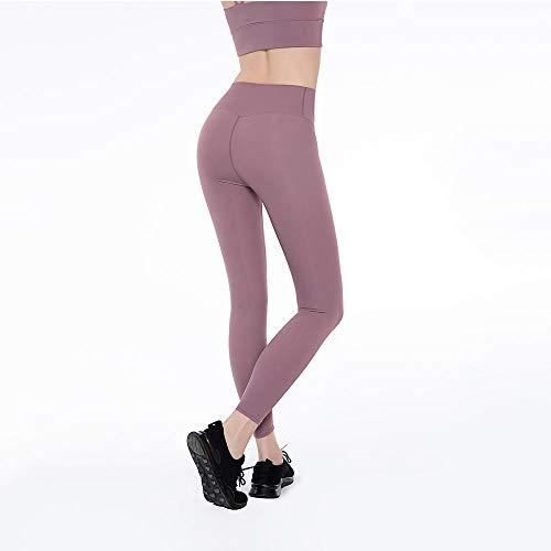 Vitila Mujer Yoga Niña Gym Yoga Slim Rojo Leggings Yoga Pantalon para Mujer Pantalones De Entrenamiento De Cintura Alta Pantalones De Cintura Control De Barriga