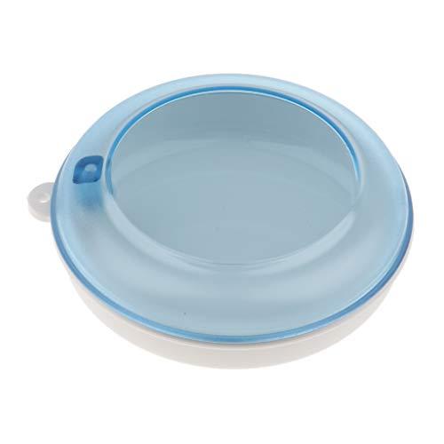 Zahnprothesenbecher Zahnspangendose mit Deckel für Zahnhalter, Mundschutz, Schöner Form - Weiß Blau