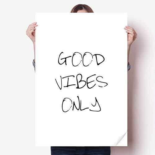 DIYthinker Good Vibes Seulement Citez Vinyle Autocollant de Mur Poster Mural Wallpaper Chambre Decal 80X55Cm 80cm x 55cm Multicolor