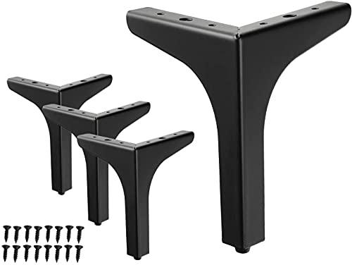 KASAN Pies De Muebles 4 Unidades,Patas De Metal para Muebles, Triangulares, Repuesto para Mesa, Armario, Sofá, Estantería(Size:10cm (4inch),Color:Dorado)