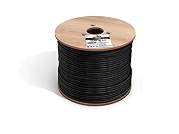 fast Cat Direct Burial Outdoor Ethernet Cable Cat 5e - 1000Ft Waterproof Cat5e Cable with 24AWG Solid Copper Conductors - CMX ETL UTP 350MHz Heavy Network & Gaming Ethernet Cable – Black