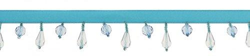 32 mm Simplicité Perles Frange Franges Galon Bleu – au mètre