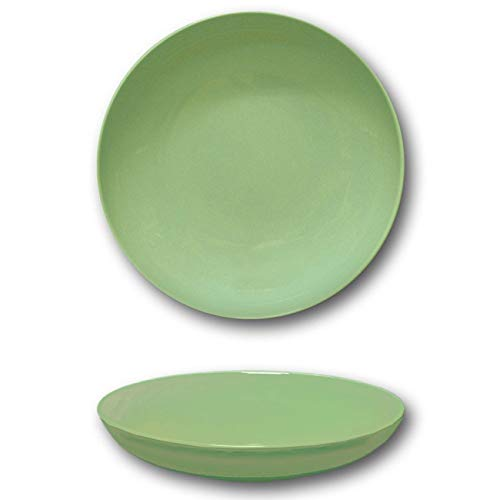 Assiettes creuses porcelaine Vert - D 22 cm - Siviglia x 6