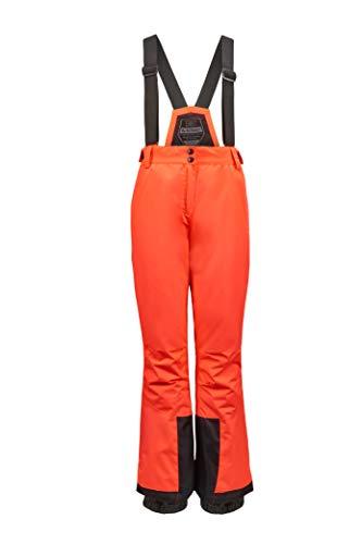 Killtec Damen Erielle Funktionshose Mit Abnehmbaren Trägern, Kantenschutz Und Schneefang, neon-Coral, 38
