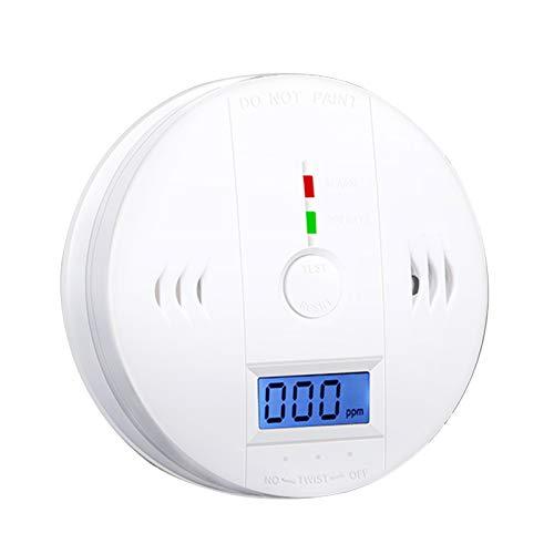 Blusea CO-Melder,Rauch und Kohlenmonoxid Alarm Rauchmelder Kohlenmonoxid-Melder Stromversorgung über Batterie mit LCD-Display Sprachwarnung