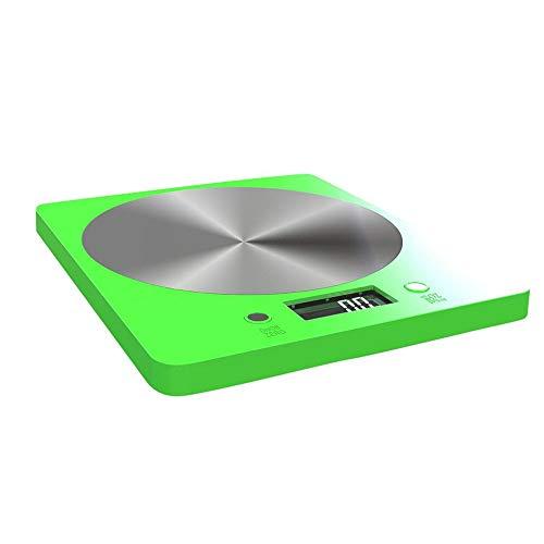 Ctiulicfc Balanza de Cocina Digital for medir Peso de Alimentos, Escala de 11 Libras de Cocina y ensayos de Seguridad Escala de Alimentos electrónicas / 5000g con Pantalla LCD. (Color : Green)