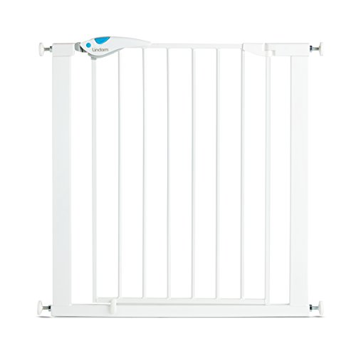 Lindam 051298 Easy Fit Plus Deluxe - Barrera de Seguridad, Blanco, 76 - 82 cm