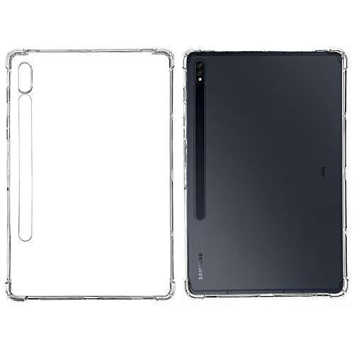 """SFFINE Designed for Samsung Galaxy Tab S7 11 Inch 2020 Transparent Case, Shockproof Slim Lightweight Flexible TPU Gel Rubber Back Cover Skin for Galaxy Tab S7 11"""" SM-T870 T875 Tablet - Crystal Clear"""