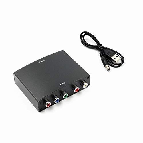 Greatangle Convertidor Profesional de YPBPR a HDMI Adaptador de Video AV de Audio fácil de Usar HDCP YPbPr/RGB + R/L Adaptador de convertidor de Audio a HDMI