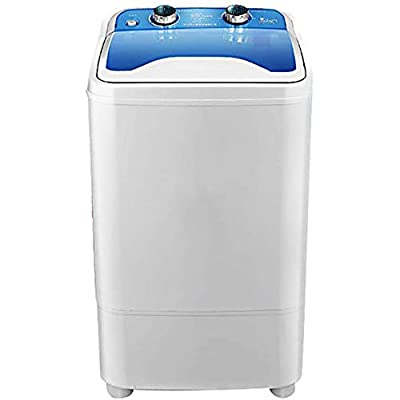 CRZJ Portable Washing Machine, 7KG Total Capacity Single Tub Wash And Spin Dehydration U~V deep cleaning Compact,A