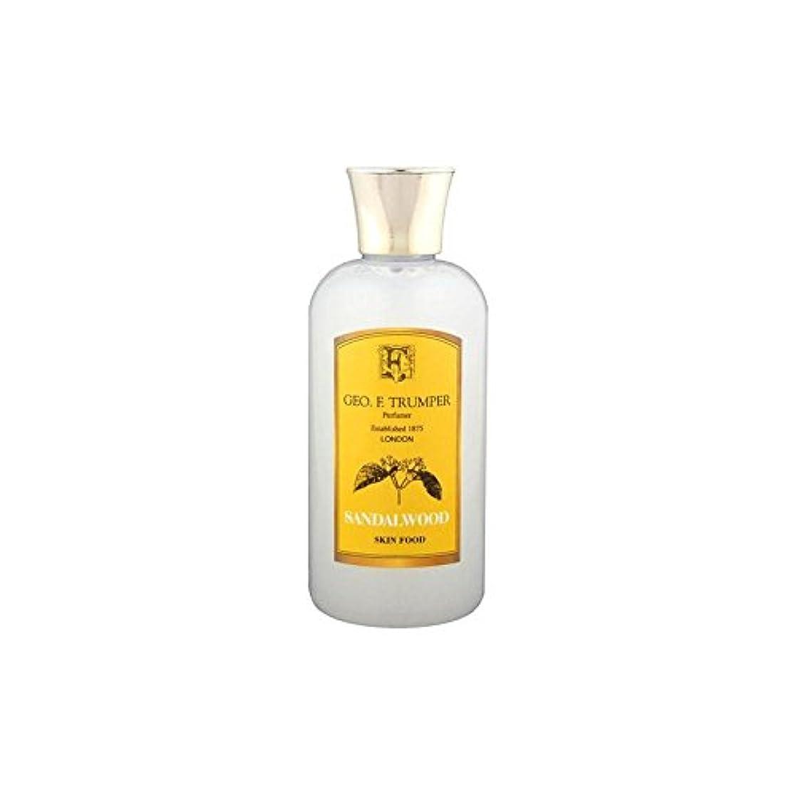 急流贅沢分岐するTrumpers Sandalwood Skin Food - 100ml Travel (Pack of 6) - サンダルウッドスキンフード - 100ミリリットル旅 x6 [並行輸入品]