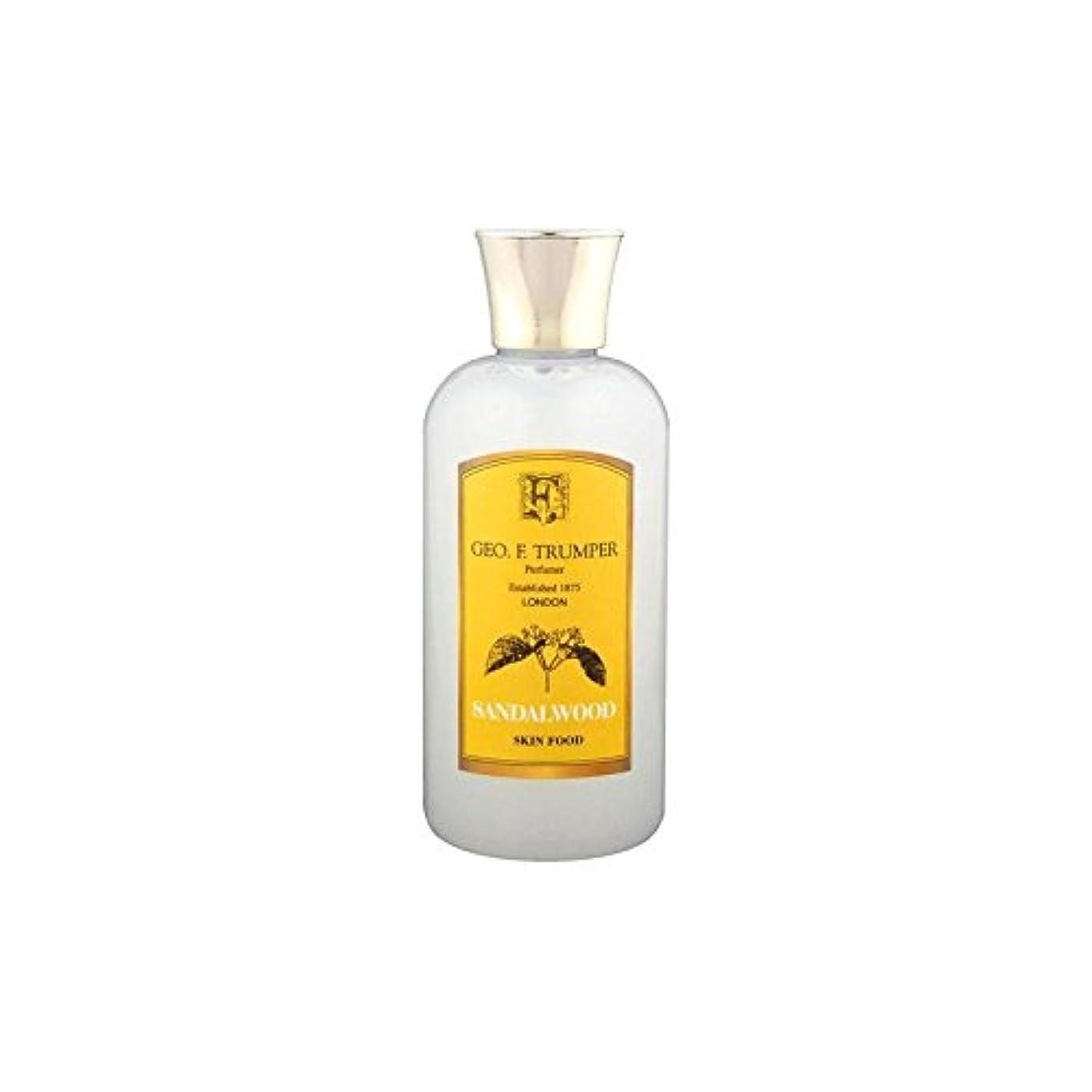抜本的なアライメント寝室サンダルウッドスキンフード - 100ミリリットル旅 x4 - Trumpers Sandalwood Skin Food - 100ml Travel (Pack of 4) [並行輸入品]