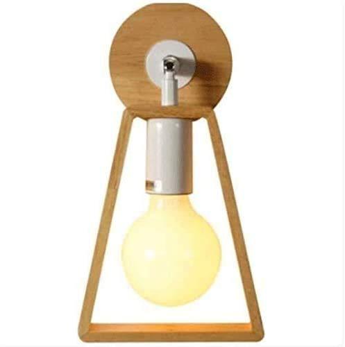 NZDY Luz de Soporte Estilo Minimalista Iluminación de Soporte de Metal Madera Iza Moderna Pequeño Y Simple Tv Pared de Madera Lámpara de Pasillo Dormitorio Noche Luz de Soporte de Acero Inoxidable