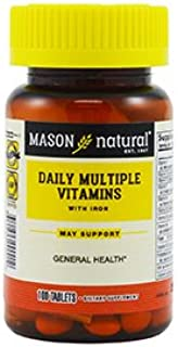 MASON NATURAL, Daily Multiple Vitamins with Iron Compare to ONE A Day Essentials with Iron®