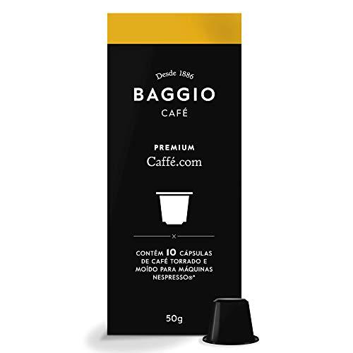 Cápsulas de Café Premium Caffè.com Baggio Café, compatível com Nespresso, contém 10 cápsulas