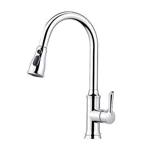 Pull Out Kitchen Mixer Tap Multi-Function 3 Spray Modes 360 Swivel Single Handle Chrome
