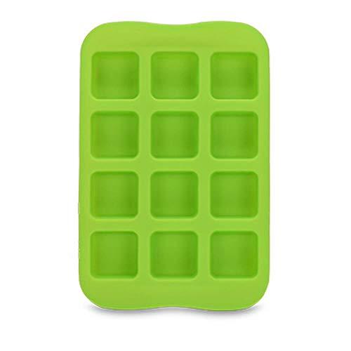 CTOBB 9-Gitter-Silikon-Schokoladen-Gelee-Form-Behälter kreativer Stern/Herz/rund/quadratisch geformte Eiswürfel-Kuchen-Form, Silber