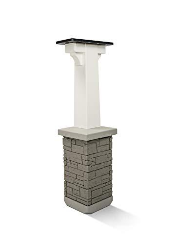 Premium Mailbox Post Set (Pedestal, Classic...