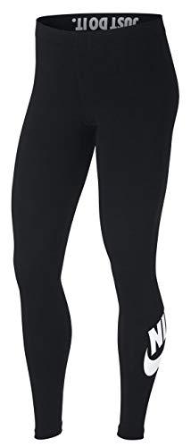 Nike Women's Sportswear Leggings Mallas, Mujer, Negro/Blanco, M