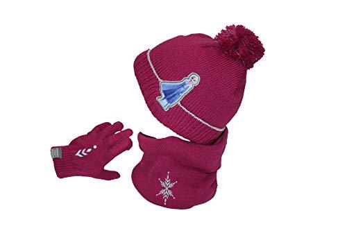 Disney Set Mütze + Handschuh + Schnee – Frozen – Mädchen Gr. One size, blasslila