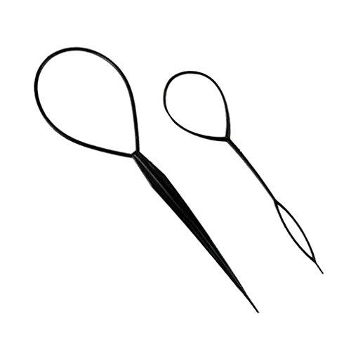 Laileya Práctico de Múltiples Funciones del Pelo de la Aguja Mágica plástico Hairdisk Wear Stick Cabello Tire Horquilla para el Cabello