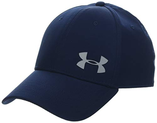 Under Armour Herren Men's Golf Headline 3.0 Kappe mit klassischer Passform, Cap mit integriertem Schweißband, Blau (Academy/Mod Gray (408), Small/Medium