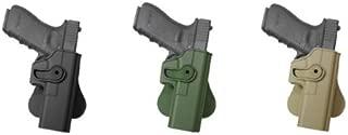 Hand Gun Polymer Retention Roto Holster for Glock 17/22/33 Desert Tan IMI RSR Defence Gun / Pistol Holster