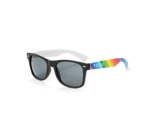 Bunt Stylische Gay Pride Sonnenbrille Regenbogen Farben Rainbow UV400 (WSPSG3)