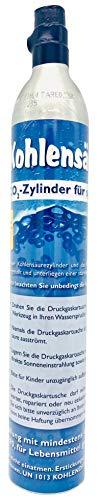 SodaNature™ | Neu & Erstbefüllt: Versiegelter CO2-Zylinder für alle SodaStream Wassersprudler (z.B. Crystal) | Füllung: 425g natürliche Kohlensäure für 60L Sprudelwasser