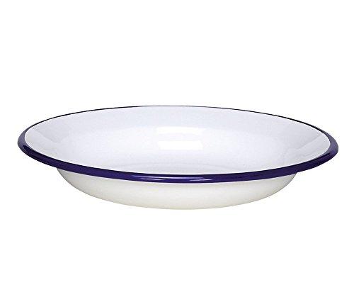 Krüger 'Karl 99j/B Platos hondos Pulgadas Husum 24cm Platos hondos, Acero, Color Blanco con Borde Azul, 24x 3, 7cm