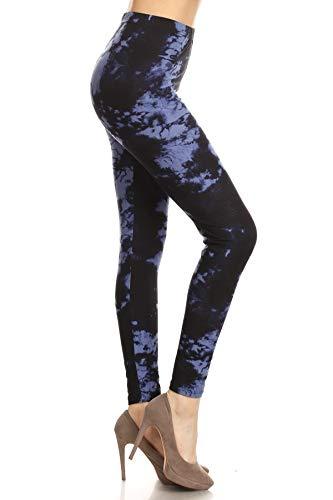 R954-OS Velvet Tie Dye Print Fashion Leggings