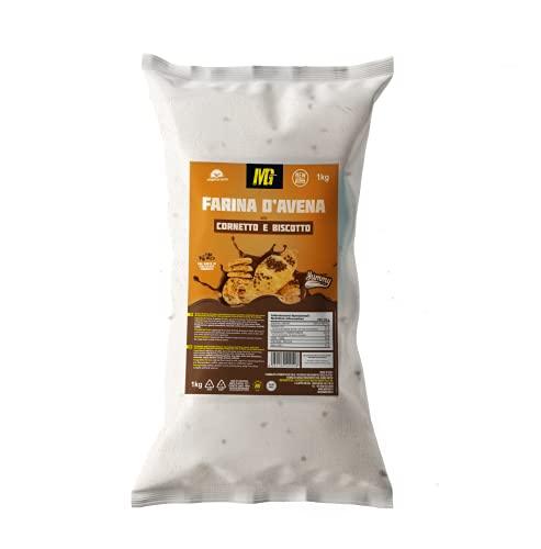 MG Food Farina di Avena Aromatizzata gusto Cornetto e Biscotto Yummy Line - 1kg