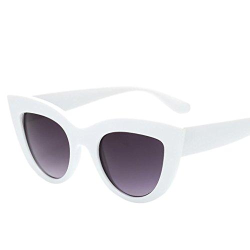 Lunettes de soleil femme- Kolylong 2018 été Femmes Vintage Cat Eye Lunettes de soleil Retro Lunettes Eyewear de dames de la mode pour les activités de plein air et les voyages (B)
