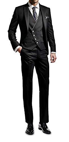 (エブレドレス)everydress メンズスーツ 一つボタン スリム スーツ 3ピース 紳士服 結婚式 通勤 スーツ メンズ メンズ礼服 スーツ メンズ 夏,3XL
