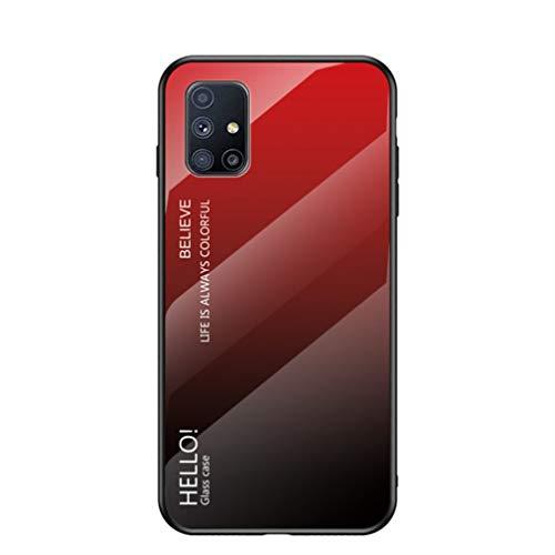 GOGME Funda para Samsung Galaxy S20 FE 4G/5G Fundas, Tapa Trasera de Cristal Templado Resistente a Arañazos, Carcasa Protectora de Parachoques de TPU Silicona Fundas Case Cover(Rojo)